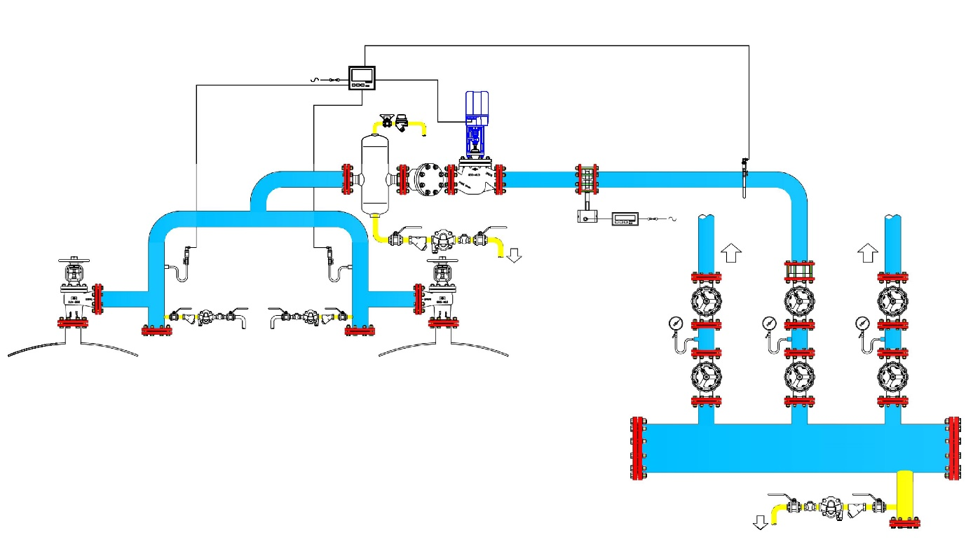 boiler piping diagrams steam dropped header